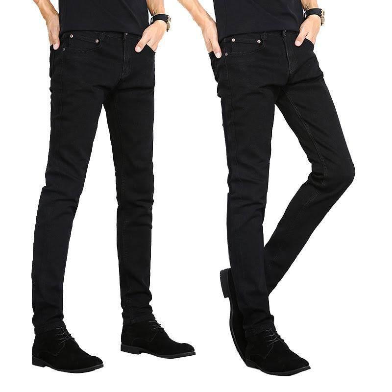 KM Male Slim Fit Black Jeans [M33032/2018]