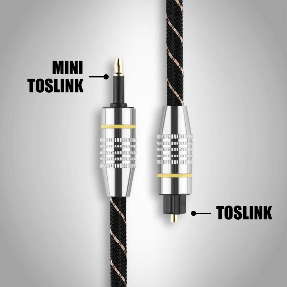 Toslink to Mini 3.5mm Plug Optical Fiber Digital Audio Cable SPDIF Gold Plated Connector (