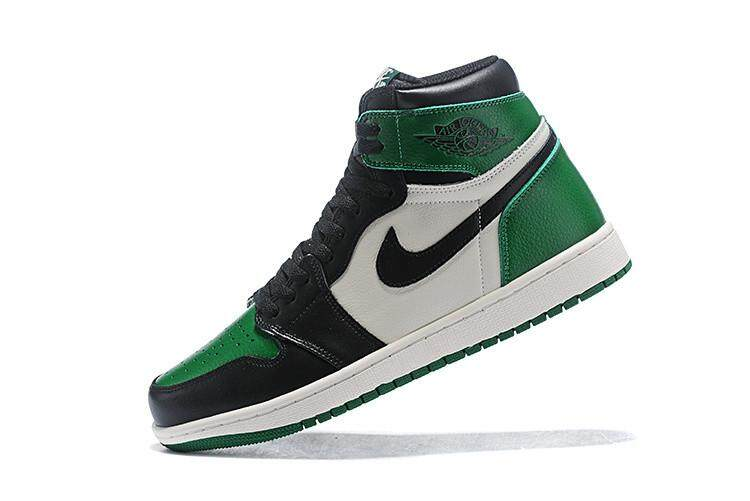 cbf054522237d7 Nike Official Michael Jordan 1 Men s Basketaball Shoe MJ Green Black  Sneakers Air Jordan AJ