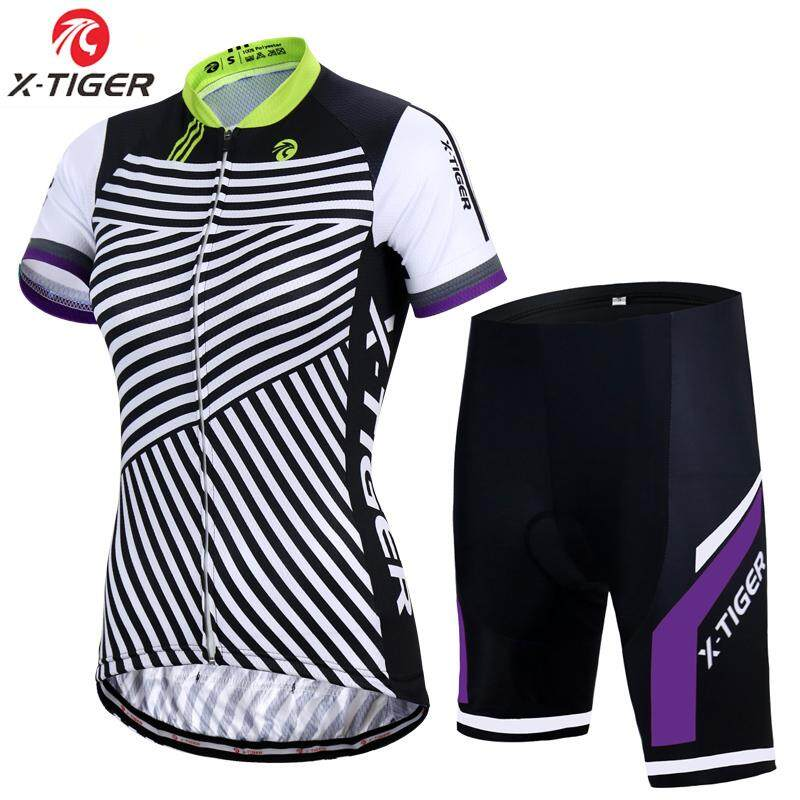 X-Tiger Hedia Women Bike Shirt 100% Polyester Breathable Bicycle Clothes Summer UV Cycling