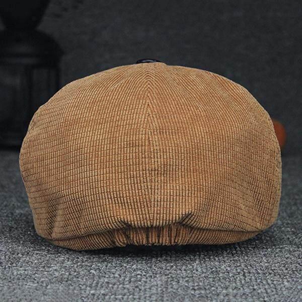 ... Men Women Pure Color Windproof Warm Beret Caps Comfortable Corduroy Duck Hats Casual Forward Caps -