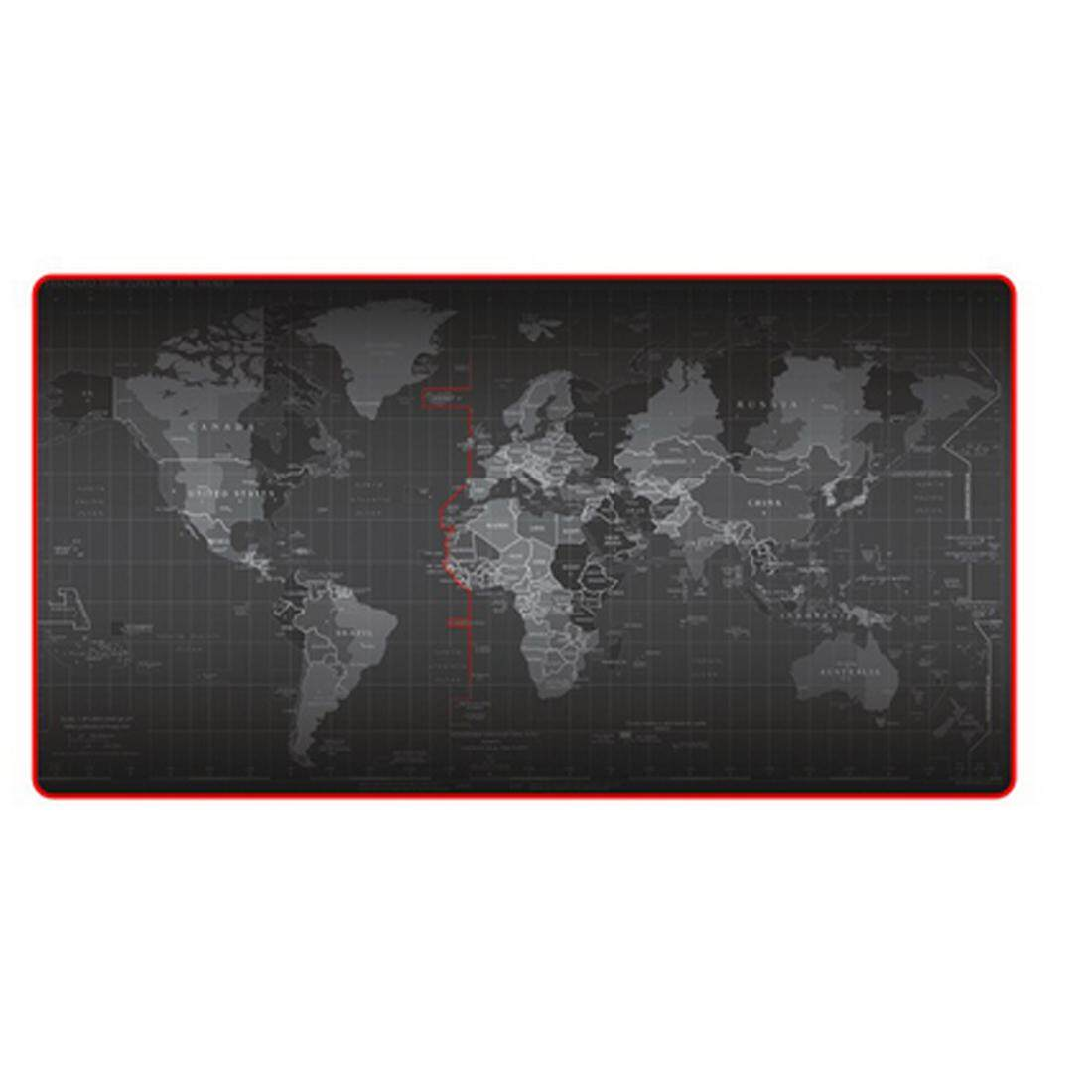 Large World Map Mouse Pad Computer Gaming Mousepad(30cm*80cm*2cm) - intl