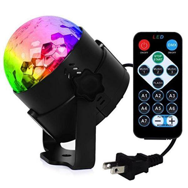 BBKANI RBG Disco Ball Light, Sound Activated Party Lights with Remote Control DJ Lighting, Strobe Lamp 7 Modes Stage Light for Home Room Dance Parties Bar Karaoke Xmas Wedding Show Club - intl