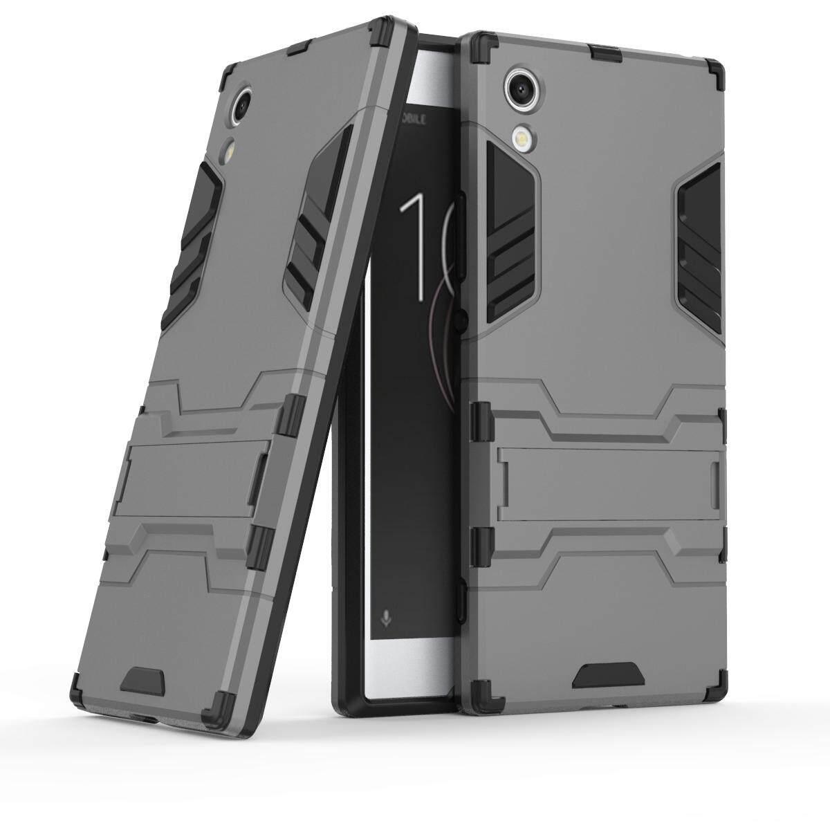 "Untuk Xperia XA1 Case 5.0 ""Keras PVC + Penutup Karet Kickstand untuk Sony Z6 G3121 G3123 G3125 G3112 G3116"