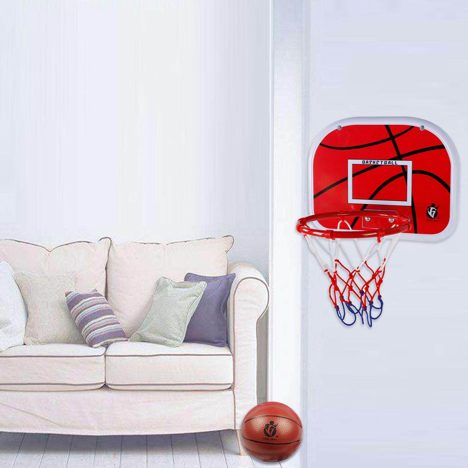 Mini Basketball Hoop With Air Pump Basketball Set For Home Office Sports Entertainment Exercise - Intl By Stoneky.