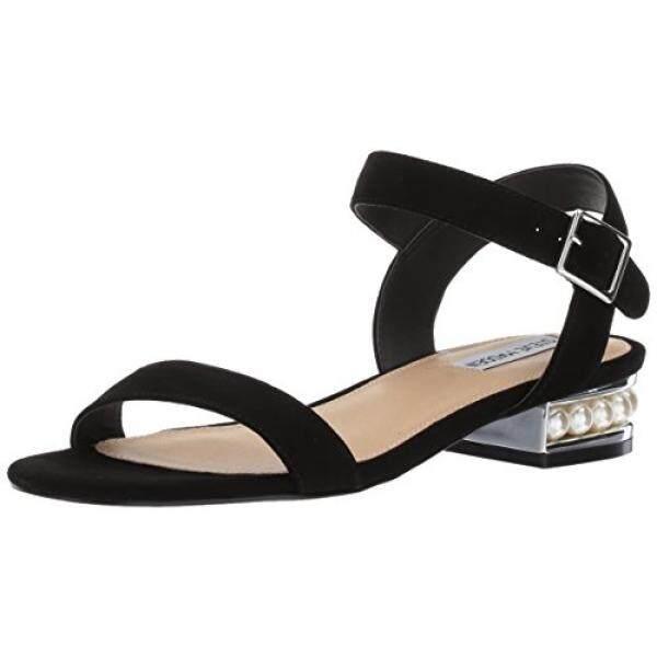 Steve Madden Womens Cashmere Flat Sandal, Black Suede, 7 M US