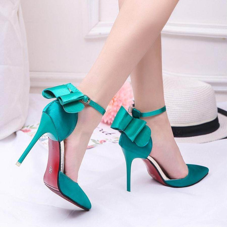 Sepatu High Heels Wanita Strap Lancip Pink Sherania R3 Daftar Boot Ls09 M Source