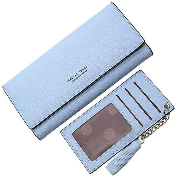 Wallets for Women, Slim Clutch Long Leather Purse Lady Checkbook Credit Card Holder with a Removable Card Slot