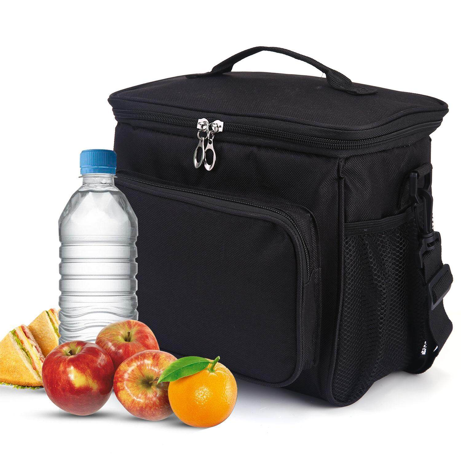 91474b85368b Fortunet Adult Lunch Bag,Insulated Lunch Box Large Cooler Tote Bag with  Double Deck & Adjustable Shoulder for Men,Women /Office ,School ,Picnic -  intl
