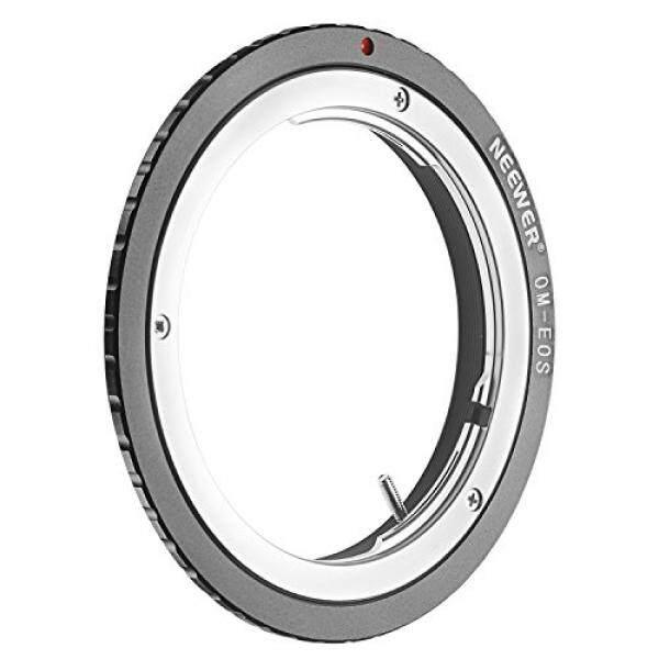 Neewer®Lensa Penyambung Adaptor untuk Om Olimpus Zuiko Lensa untuk Canon EOS EF Kamera Tubuh cocok Canon EOS 1D 1DS MARK II III IV 5D Mark II 7D 40D 50D 60D 70D 550D 600D 650D 700D 100D 1100D-Intl