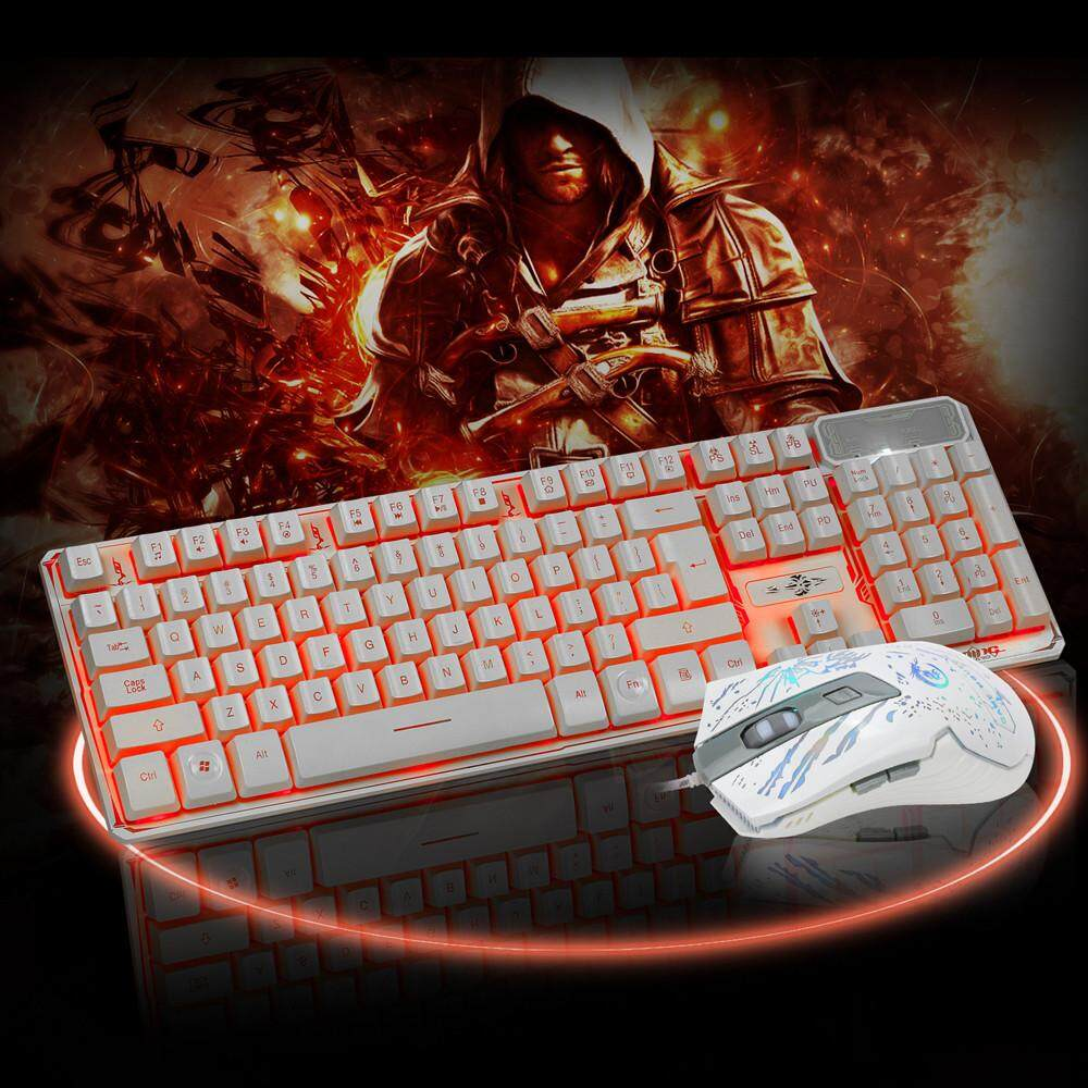 Erpstore LED Gaming wired 2.4G keyboard and 3200DPI Mouse Computer Multimedia Gamer - intl