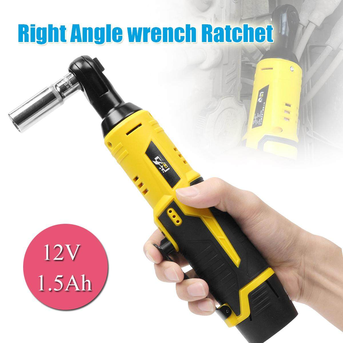 12v 1 5ah Cordless Right Angle Wrench Ratchet 3 8 Li Ion