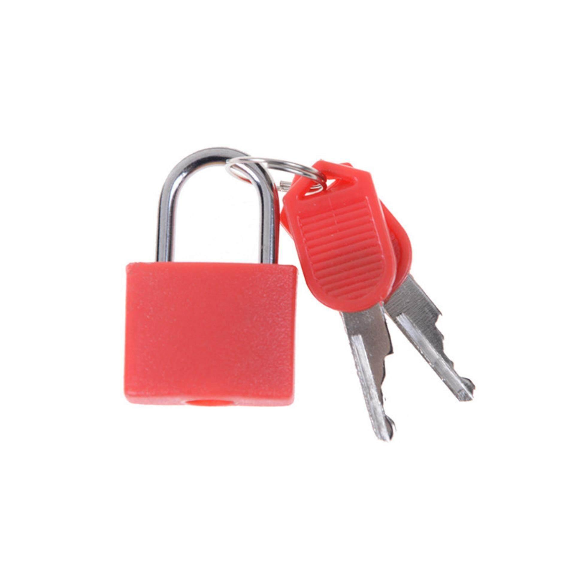 Perkakas Nankai Kunci Sepeda Sling 100 Cm Daftar Harga Terlengkap Spiral Bicycle Lock Mini Strong Steel Padlock Travel Tiny Suitcase With 2 Keys Red Intl