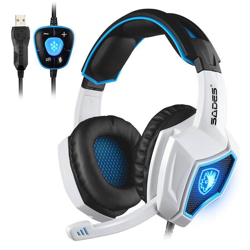 SADES USB Gaming Headphone Computer Game Headset 7.1 Surround Sound With Backlight Microphone
