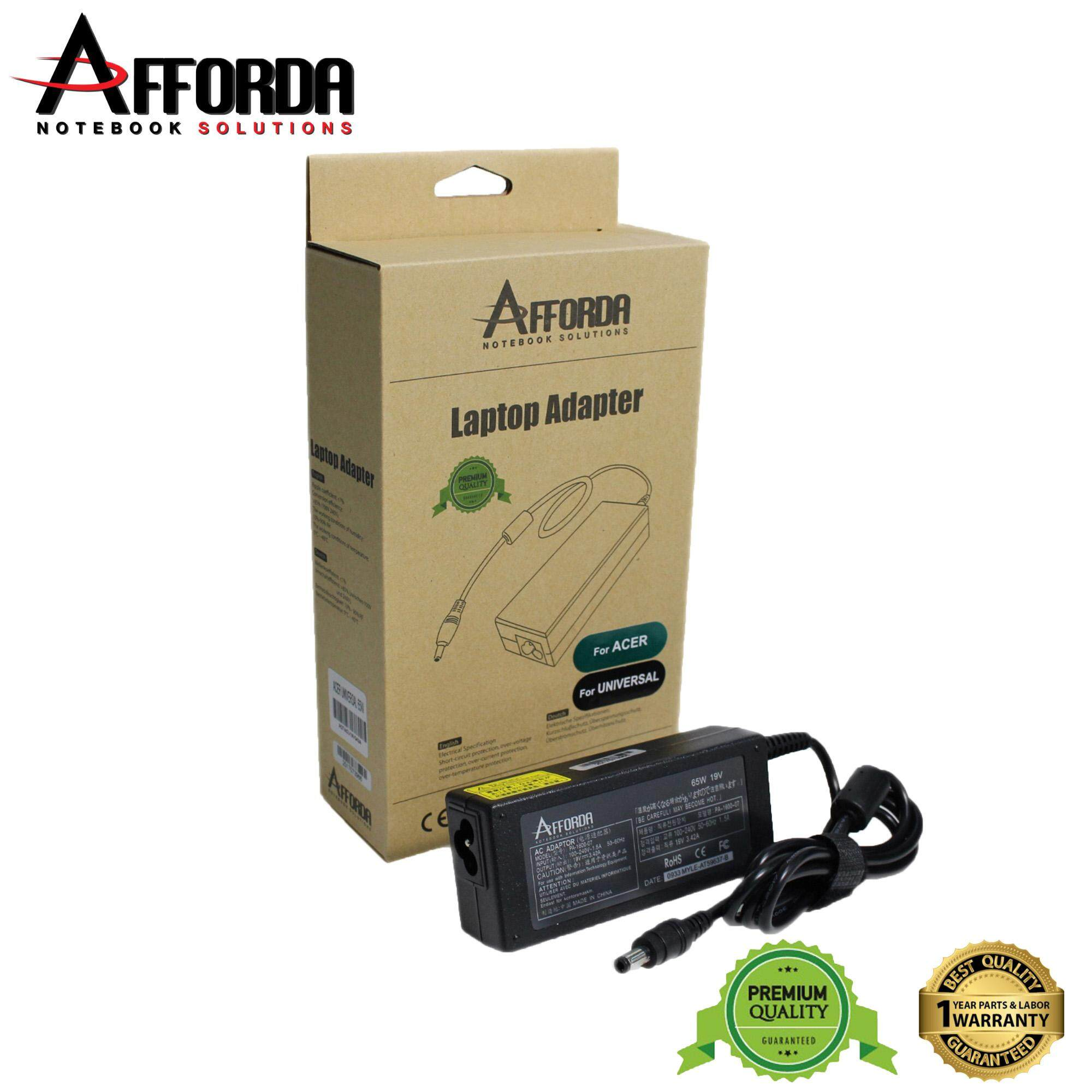 AFFORDA ACER UNIVERSAL ADAPTER 65W FOR ACER NOTEBOOK