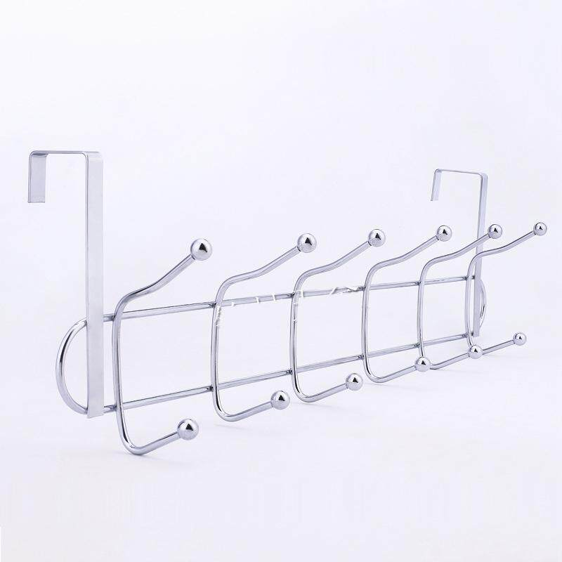 Ready Stock ! 12 hooks Stainless Steel Door Bathroom Towel and Clothes Hanger Organizer