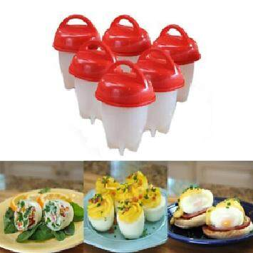 Silicone Egg Steamer Eggies Boil Egg Cooker Hard-Boiled Eggs (6pcs)