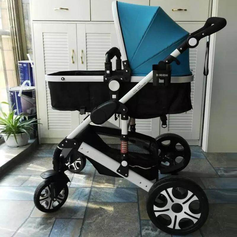 Newborn Baby Stroller for Infant and Toddler City Select Folding Convertible Baby Carriage Luxury High View Anti-shock Infant Pram Stroller with Cup Holder and Rubber Wheels - intl Singapore