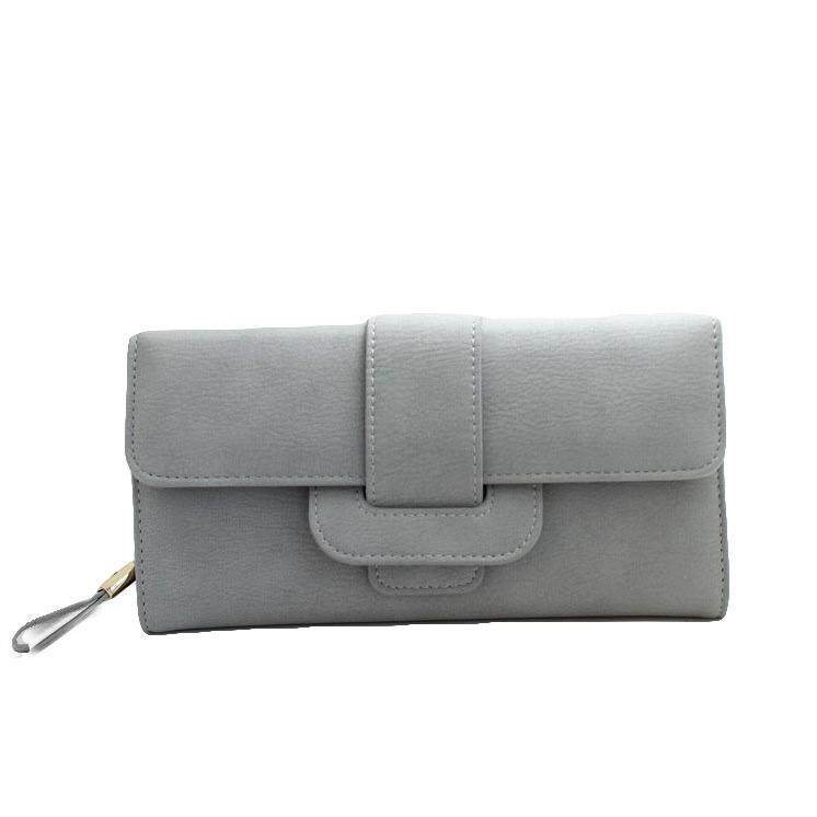 WLT-107 Nicole Bonnie Big Space Woman Purse [GRAY /Ready Stock]