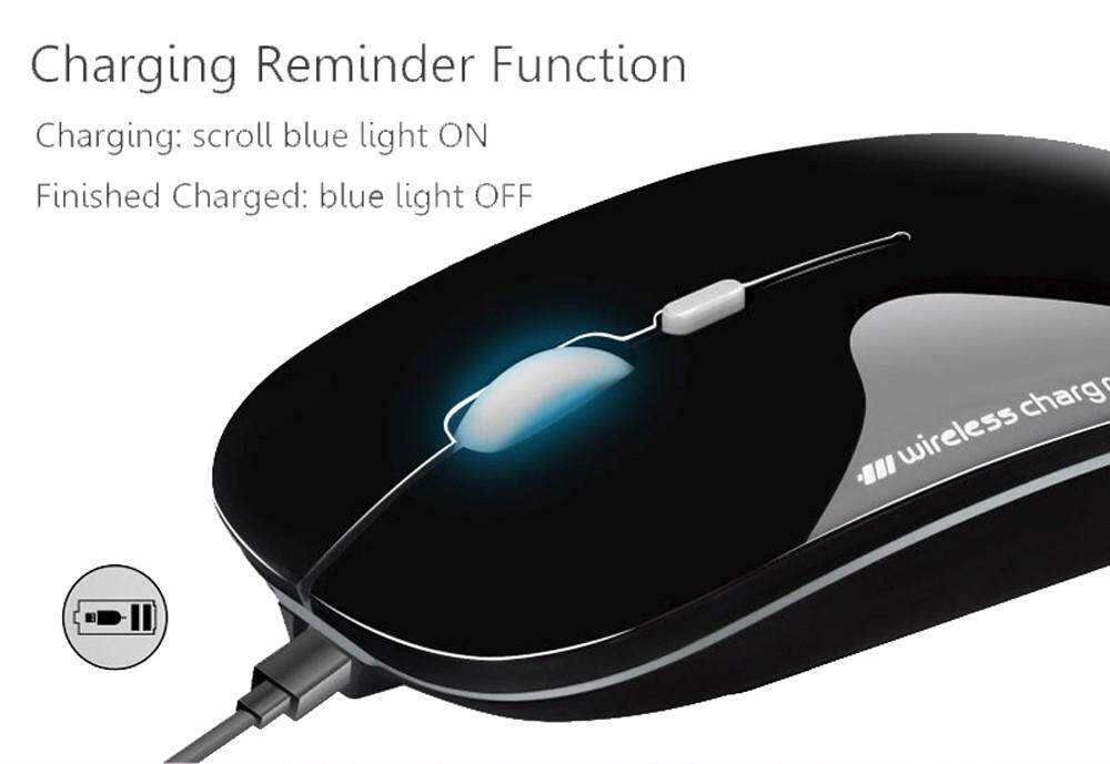 Auburyshop 2.4GHz Rechargeable Wireless Mouse Silent Button Ultra Thin USB Optical Mice New Malaysia