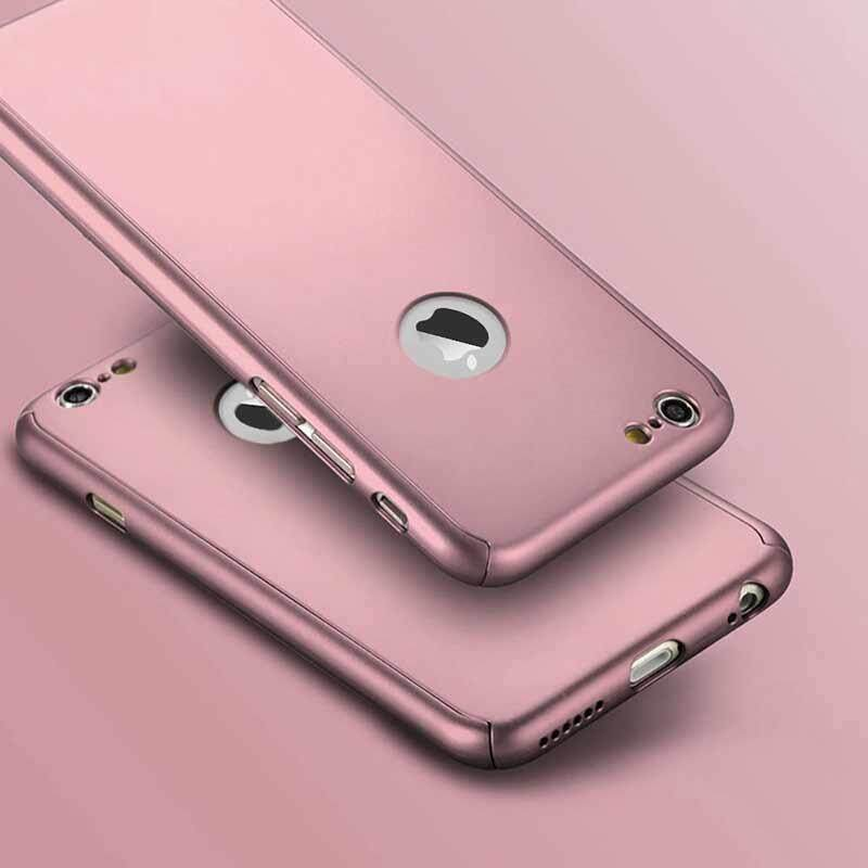 Lucky-G 360 Degree Protective Case Set for iPhone Luxury Ultra Thin Hard Cover Models:Iphone7plus - intl