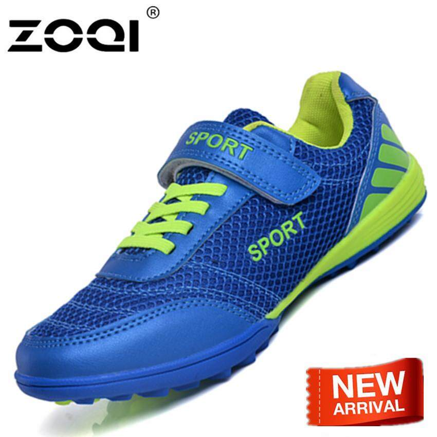 ZOQI Indoor Futsal Soccer Boots Sport Sneakers Kid Cheap Soccer Cleats  Football Shoes Ankle Boots cf3d1362f