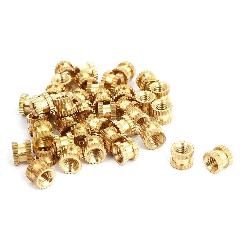 M3 x 4mm x 5mm Bushing Threaded Brass Fluted Insert Bound Nuts 40 pcs.