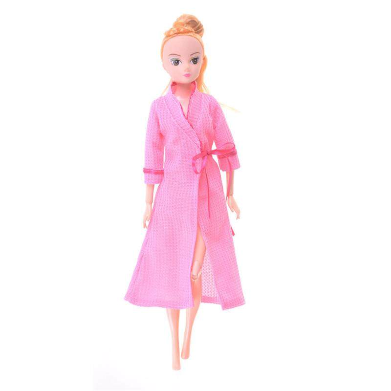 67bf3c5e66 Blowing Bedroom Pajamas Robe Nighty Bathrobe Clothes For Barbie Dolls Robe  Blue
