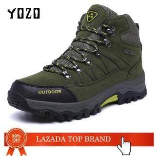 Giày Leo Núi Nam Bốt Da Thật 100% Giày Dã Ngoại Chiến Thuật Câu Cá Mùa Đông Chống Nước Giày Thể Thao Sneaker Đi Bộ Đường Dài YOZO thumbnail