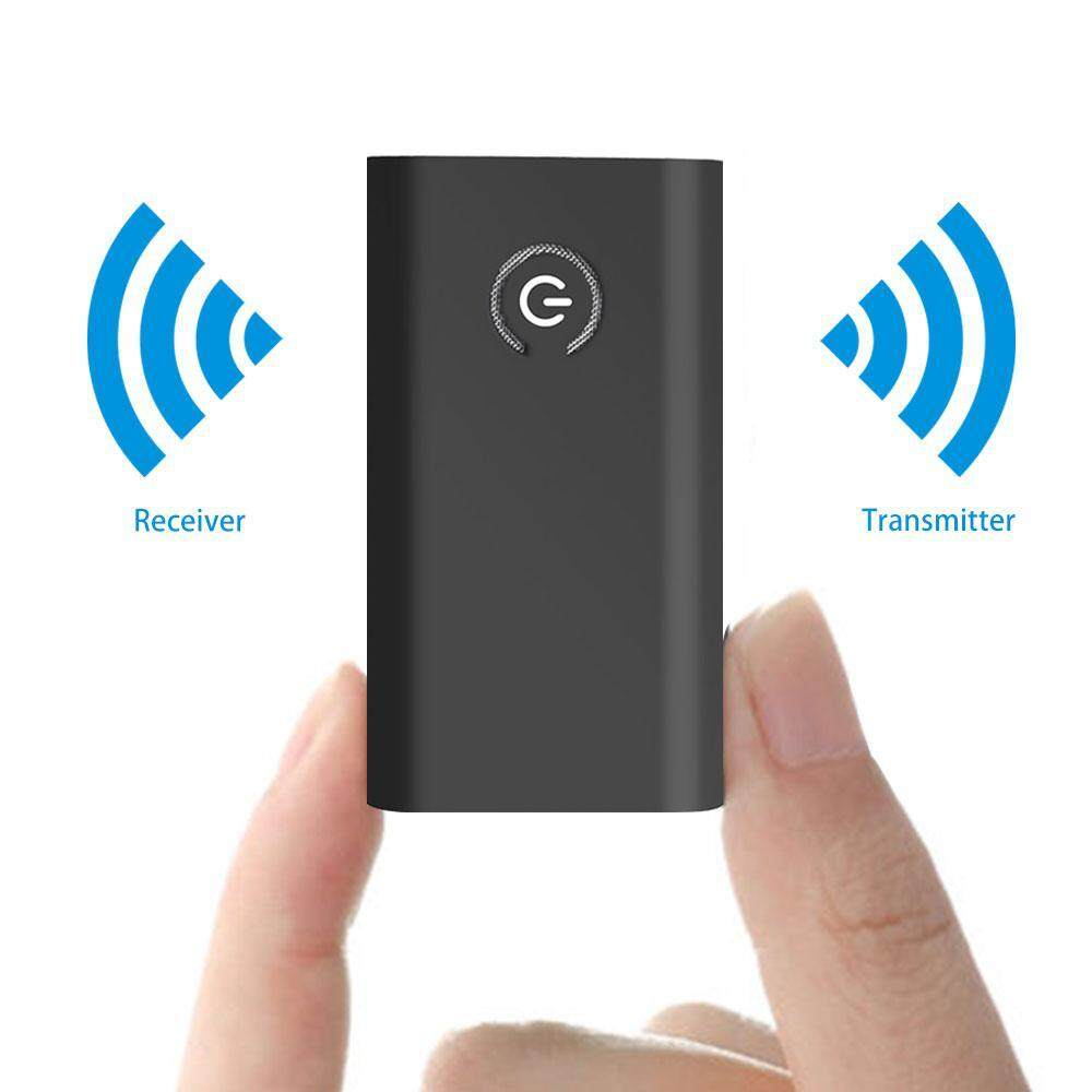 leegoal Bluetooth Receiver Transmitter,Bluetooth Adapter, 2-in-1 Bluetooth Empfänger Transmitter Mini Tragbar Wireless Transmitter Receiver Mit 3,5mm, Can Connect Two Bluetooth Headsets At The Same Time, Suitable For All Home And Car Speaker Systems