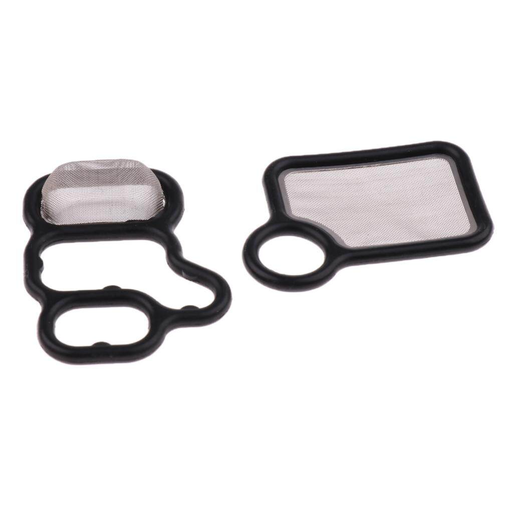 Miracle Shining 1 Pair Vtec Solenoid Spool Valve Gasket For Honda Cr-V Fit Acura Rdx Rsx Tsx By Miracle Shining.
