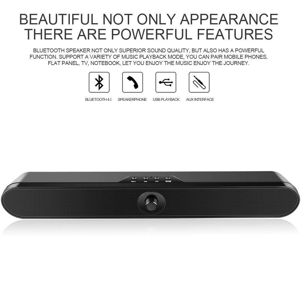 Portable Wireless Bluetooth Speaker Hands-free HIFI Home Stereo Bass Soundbar with Subwoofer Support FM TF USB AUX for TV PC Phone Malaysia