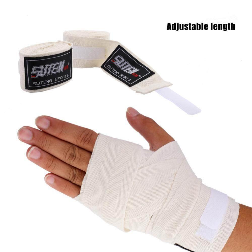 4 สีผู้ใหญ่ 1 คู่ Handwraps ยืดหยุ่นมือสำหรับมวยมวยไทย - Intl By Duoqiao.