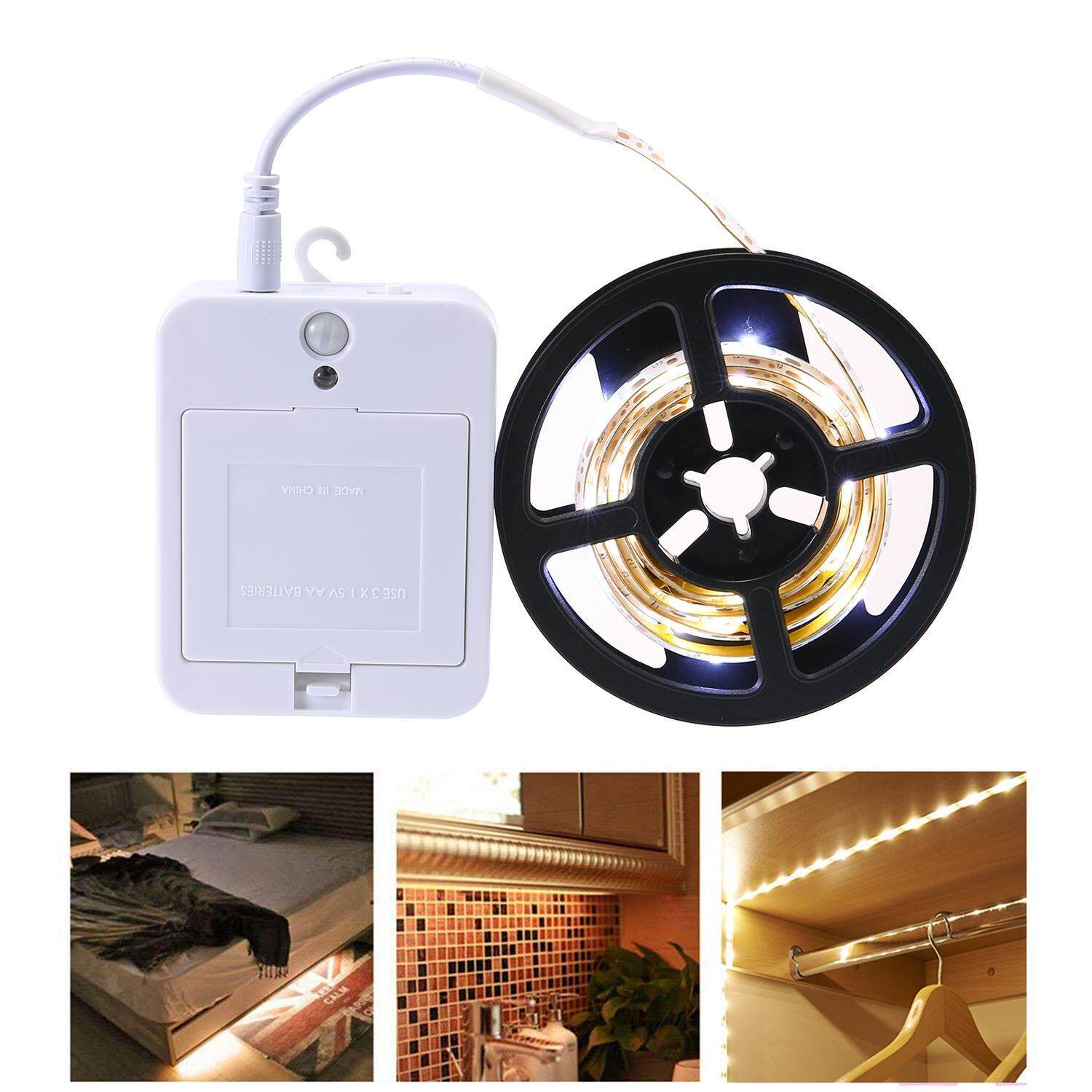 Teepao 1M LED Strip Night Light - Motion Sensor Closet Light, Willed Motion Activated Under Cabinet Light with Dual Mode for Stair ,Under Bed,Closet Singapore