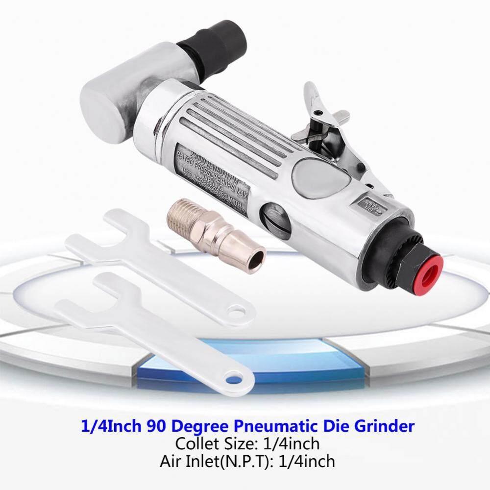 1/4Inch Pneumatic Air Die Grinder Grinding Kit 90 Degree Polishing Engraving Tool 90PSI - intl