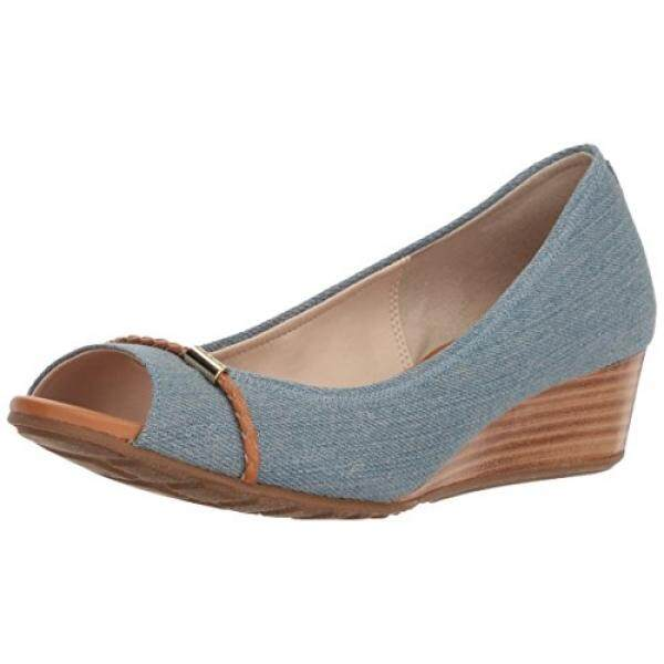 Cole Haan Womens Emory OT Wedge with Braided Band Pump, Riverside Denim, 5 B US - intl