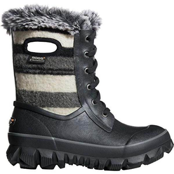 Bogs Womens Arcata Sripe Snow Boot Black Multi Size 11 - intl