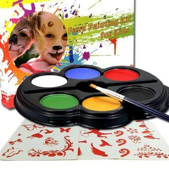 การส่งเสริม MagiDeal 6 Colors Make Up Face Paint Palette Fun Halloween Fancy Painting Kit Set hot deal - มีเพียง ฿140.00