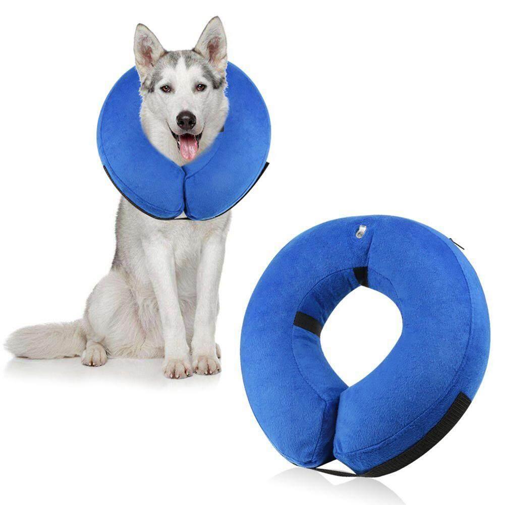 Kreatif Pelindung Inflatable Ikat Leher Anjing Hewan Peliharaan Pemulihan Kalung Leher Hewan Peliharaan L-Intl