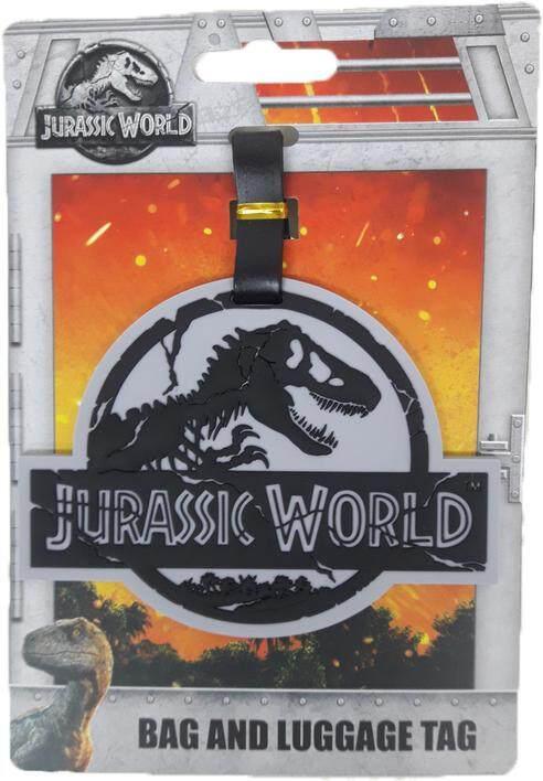 Jurassic World Luggage Tag Grey Color JW Logo
