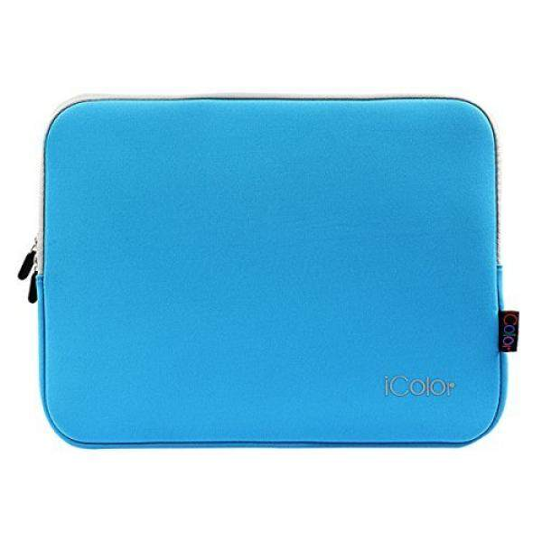 Biru IColor 13-13.3 Inch Sarung Neoprene Laptop Tutup Tas Tempat untuk 12.9 Apple Ipad Pro, MAC BOOK Air/Pro Retina dell Toshiba Chromebook, Samsung, Dell, HP Lenovo, ASUS-Intl