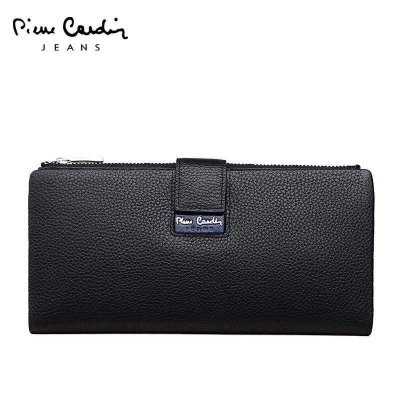 Pierre Cardin tas tangan pria tas tangan Kulit asli banyak tempat kartu  Casual Pria Dompet model 3f02afad0a