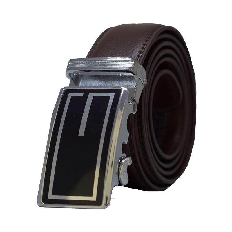 A63 High Quality Original Calf Skin Business Automatic Buckle Men Leather Belt - Adjustable Strap for Size M , L