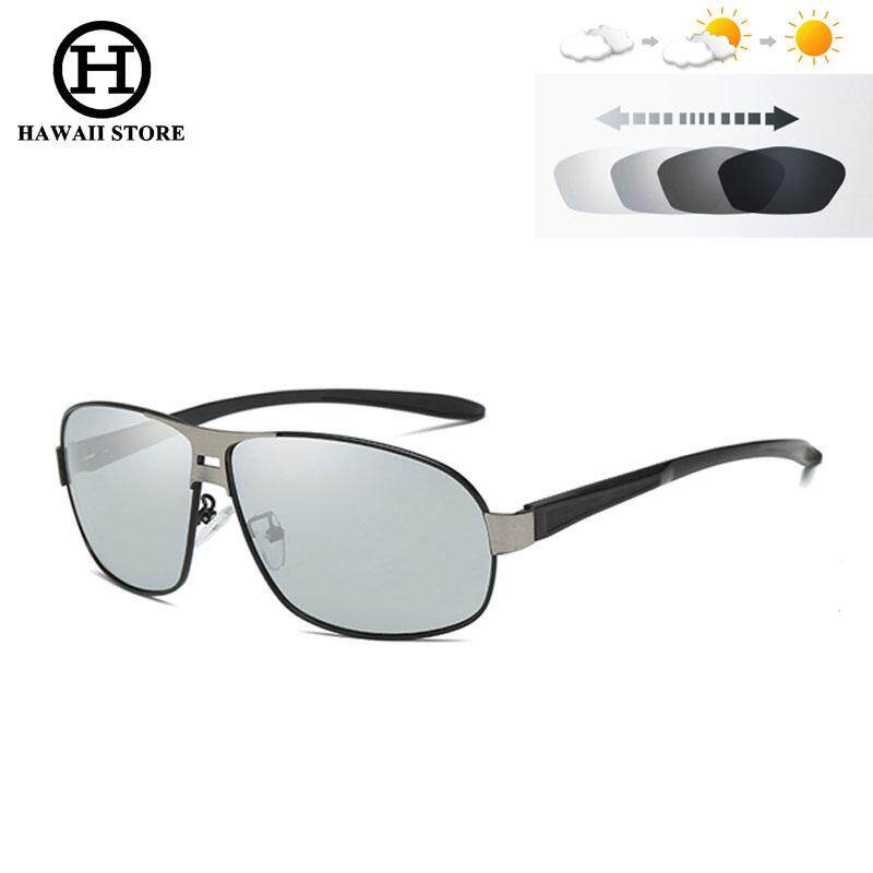 Hawaii Photochromic Driving Sunglasses Men Anti Glare Discoloration  Polarized Sun Glasses For Men Oculos De Sol c93b3d30f5