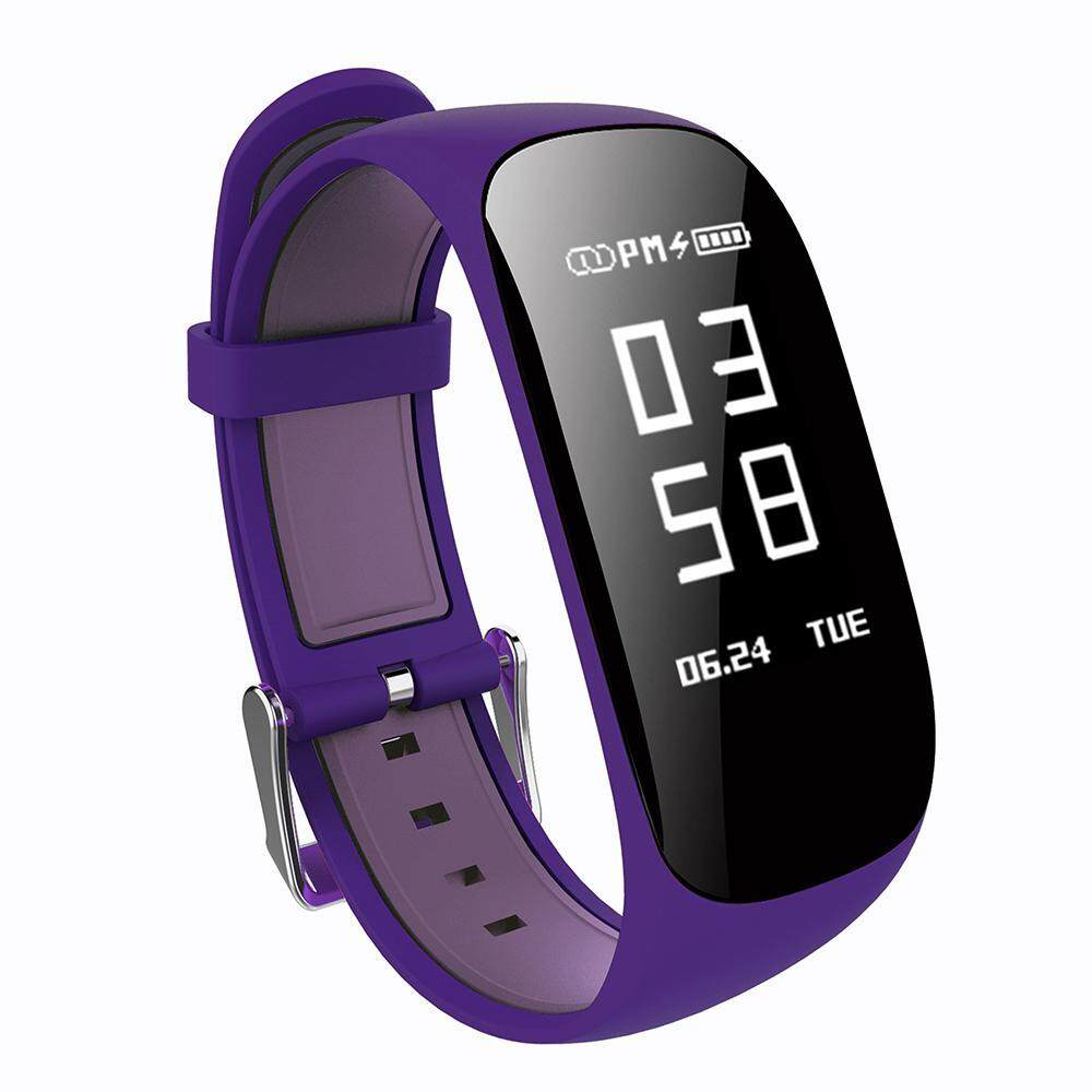 yugos Smart Bracelet Heart Rate Monitor Sports Fitness Tracker Pedometer Sleep Wristwatches Z17 Calorie Counting Watch - Purple - intl
