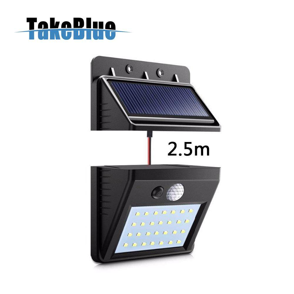 TakeBlue 28 LED Solar Lights Outdoor, 3 Intelligent Modes, Separable Solar Panel, Waterproof Solar Powered Motion Sensor Light Wireless Security Lights Outside Wall Lamp for Driveway Patio Garden Path ( 1 / 2 Pack )