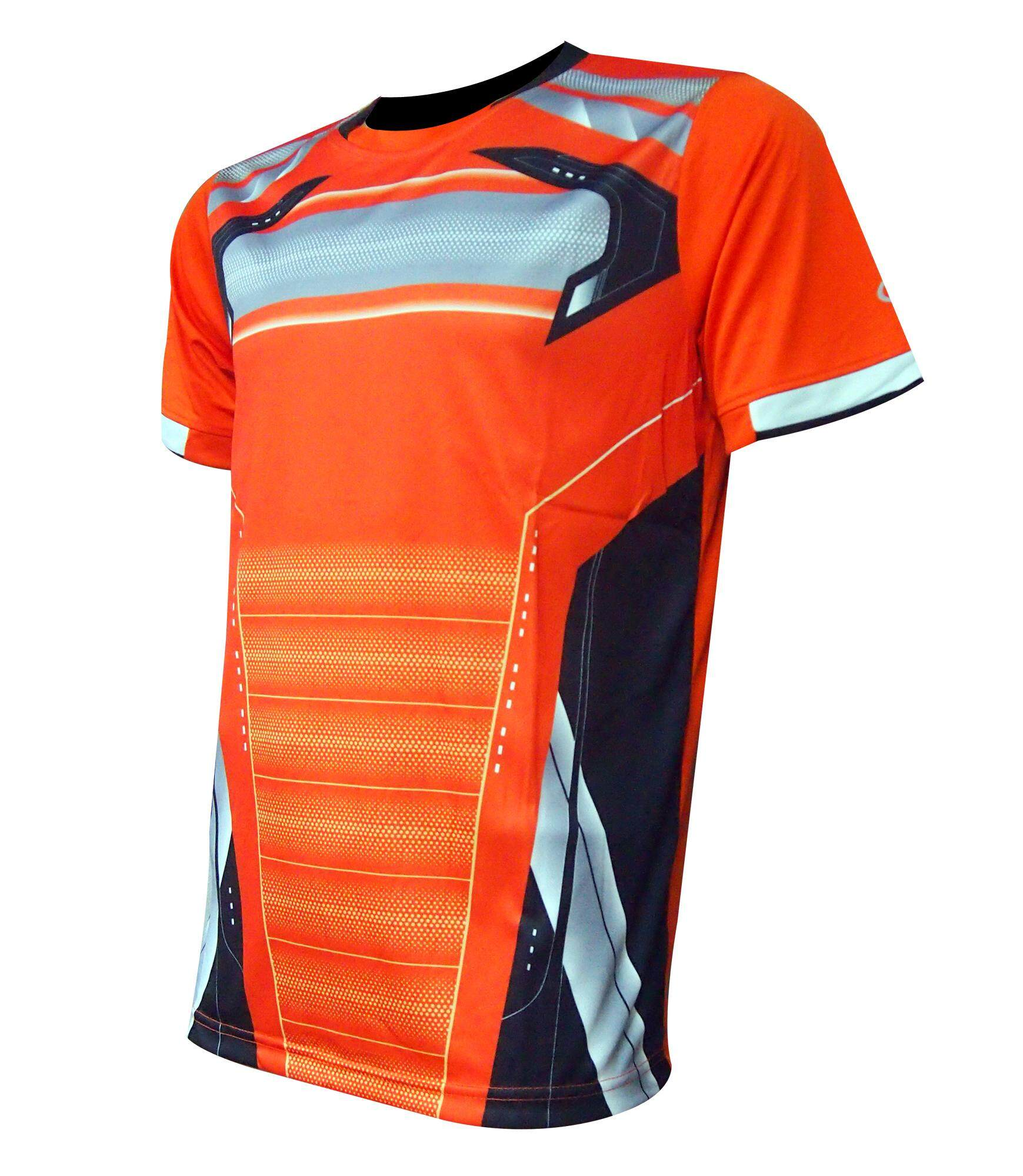 AMBROS Men's Poly Paper Transfer Jersey - Orange/Black