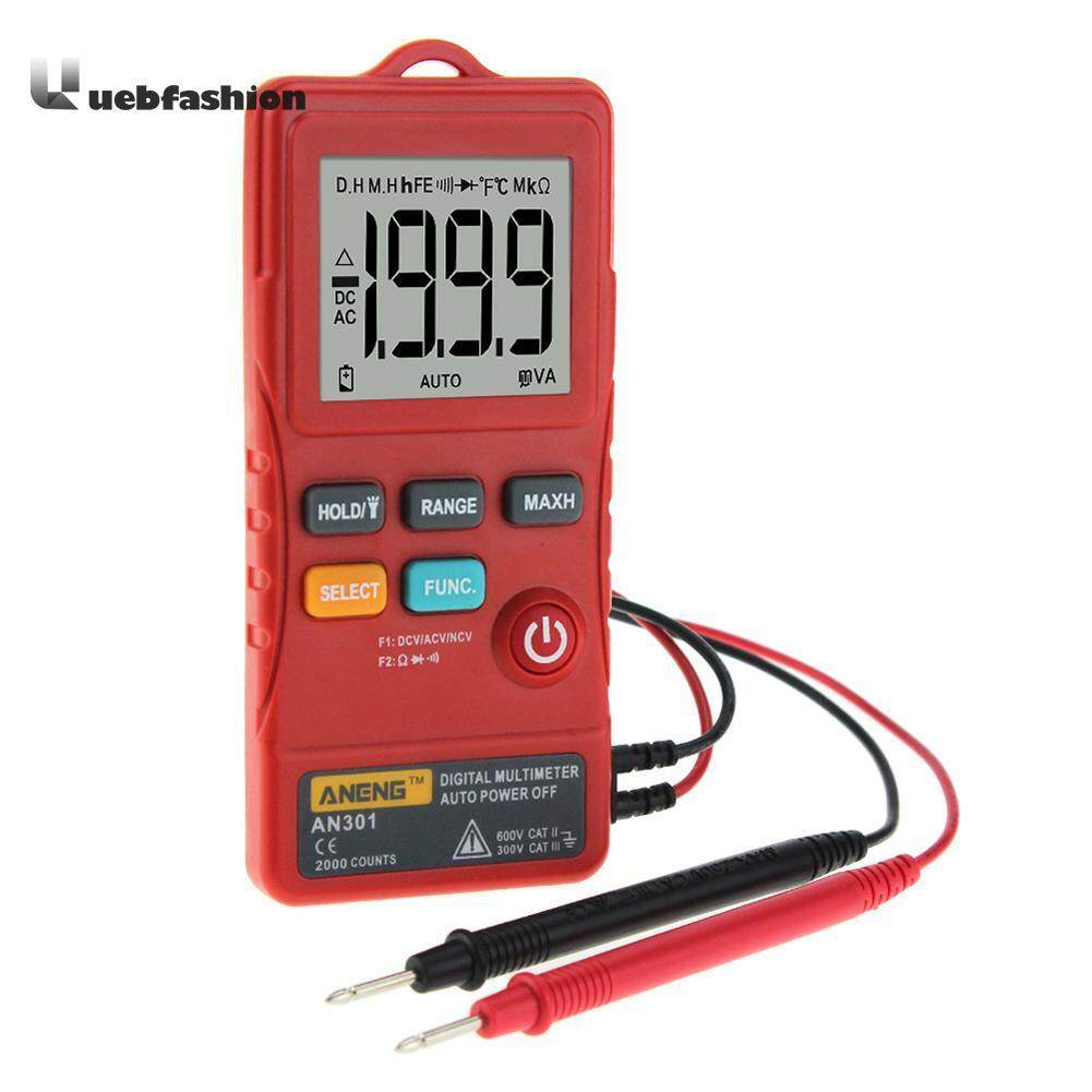 ANENG AN301 Mini Digital Multimeter 1999 Counts Ture RMS Card Type AC DC Voltmeter Resistance Meter Tester with LED Light