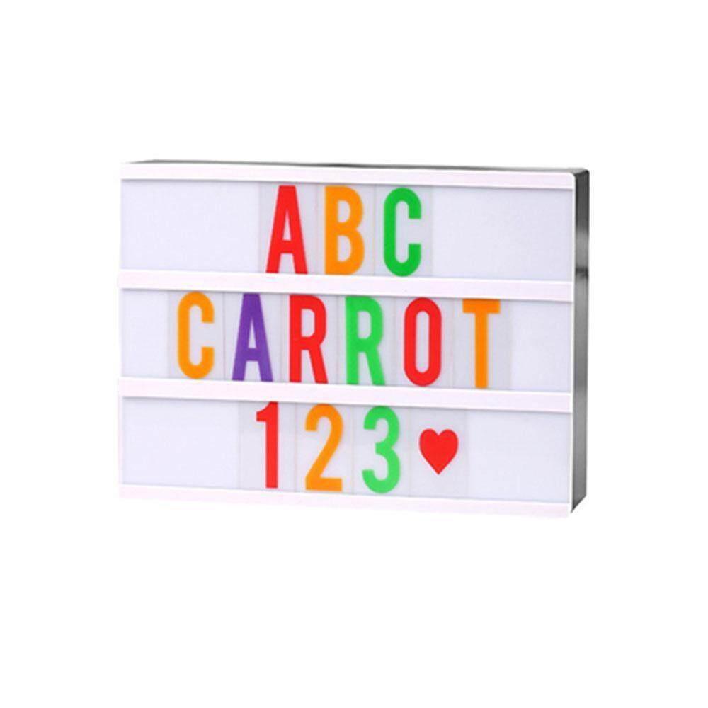 OXOQO Rechargeable LED Seven Color Alphabet Digital Light Box- 120Color Black Letters Words Emojis DIY Message Vintage Board Changeable Home Decor Sign A4