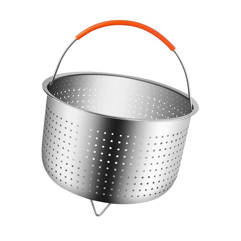 Hình ảnh BolehDeals Stainless Steel Steamer Basket Rick Cooker Steamer Vegetable Fruit Cleaner